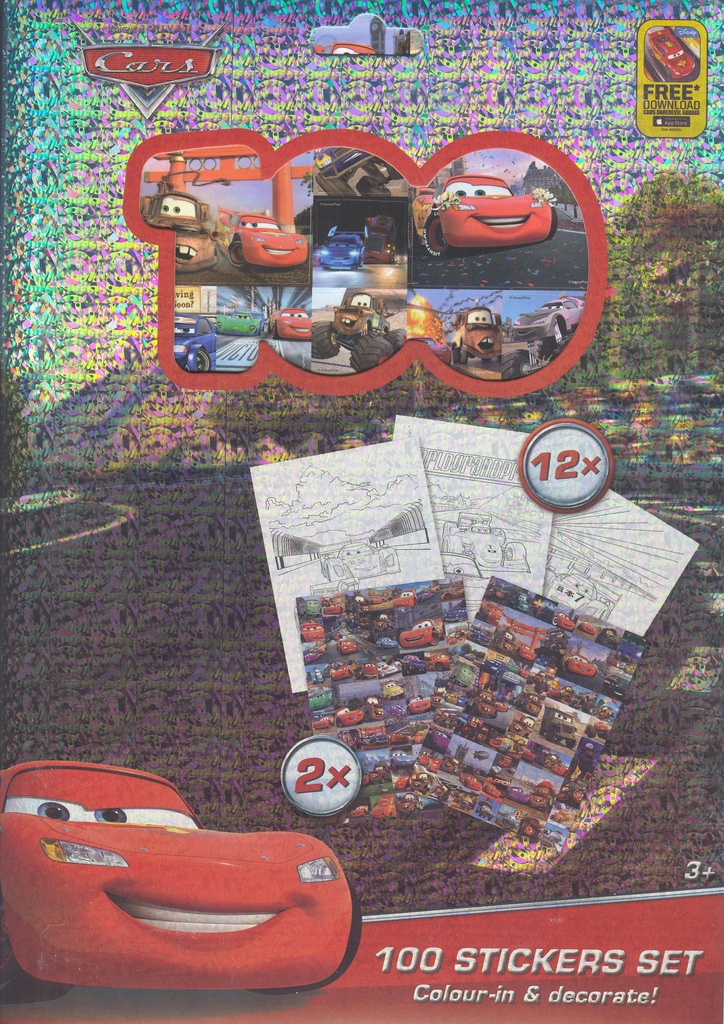 Cars 100 stickers set 003