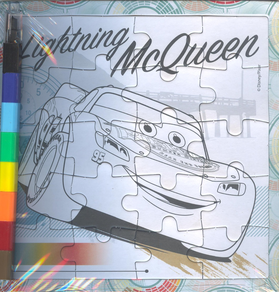 Lighting McQueen puzzle colouring set 001 (2)