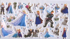 Frozen puffy sticker bag 001