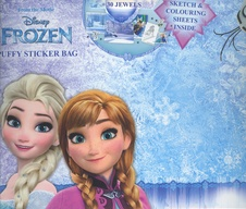 Frozen puffy sticker bag 002